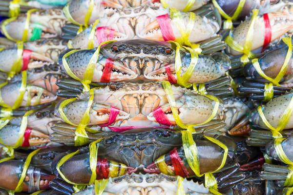 Közelkép fekete rák sár friss piac Stock fotó © stoonn