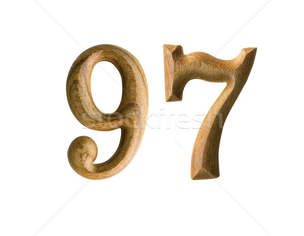 Wooden numeric 97 Stock photo © stoonn