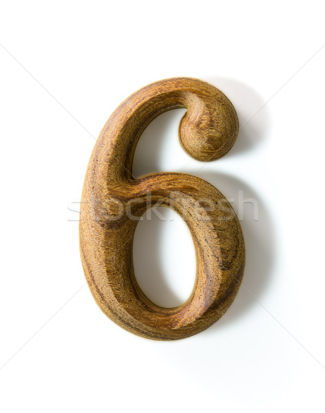 Wooden numeric 6 Stock photo © stoonn