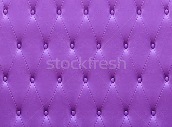 Pattern viola pelle sede tappezzeria muro Foto d'archivio © stoonn