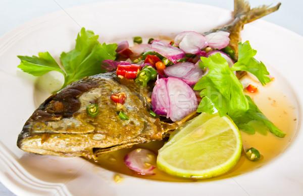 Tailandés cocina alimentos peces cena rojo Foto stock © stoonn
