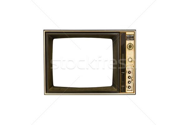 レトロな ヴィンテージ テレビ 白 映画 黒 ストックフォト © stoonn