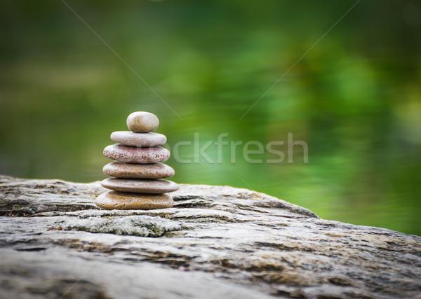 Zen пород саду зеленый искусства Сток-фото © stoonn