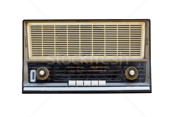 Old radio isolated  Stock photo © stoonn