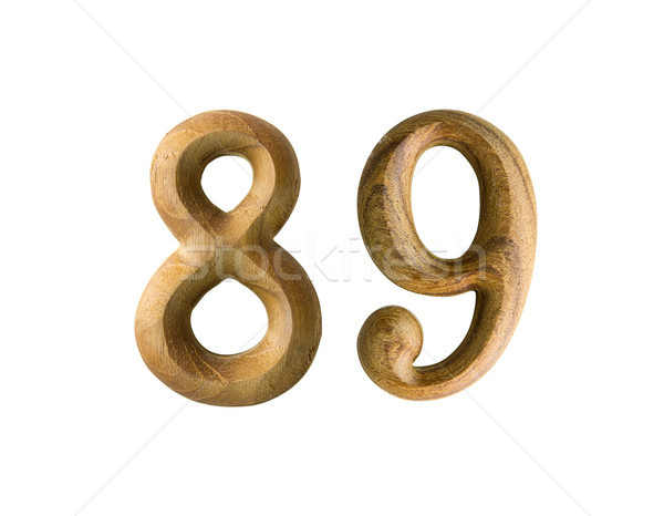 Wooden numeric 89 Stock photo © stoonn