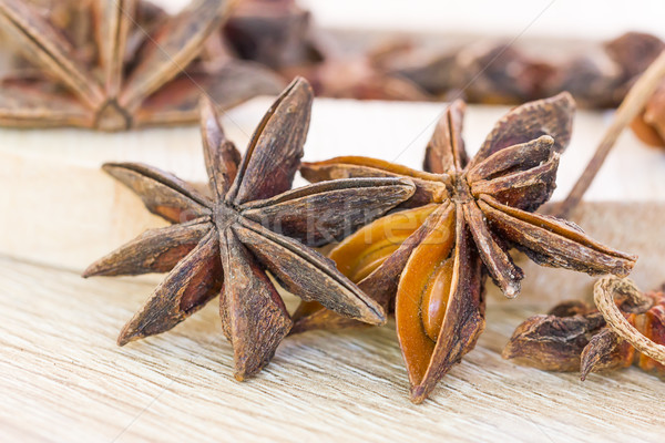 Close up Star anise seed Stock photo © stoonn