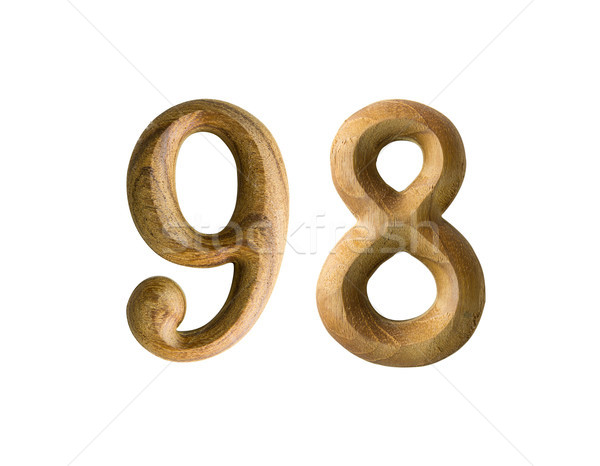 Wooden numeric 98 Stock photo © stoonn