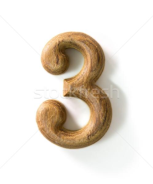 Houten numeriek mooie schaduw witte abstract Stockfoto © stoonn