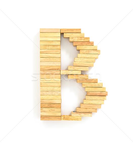 Dominó Inglés alfabeto cartas blanco Foto stock © stoonn