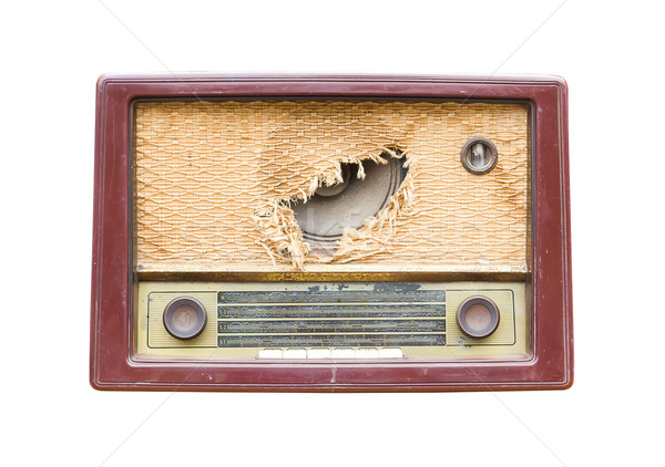 Old vintage radio Stock photo © stoonn