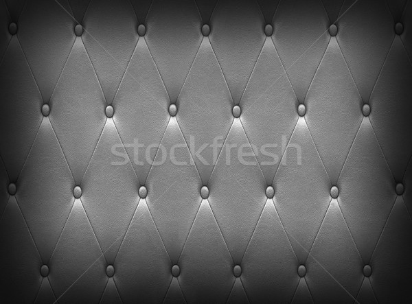 Luxurious silver leather  seat upholstery Stock photo © stoonn