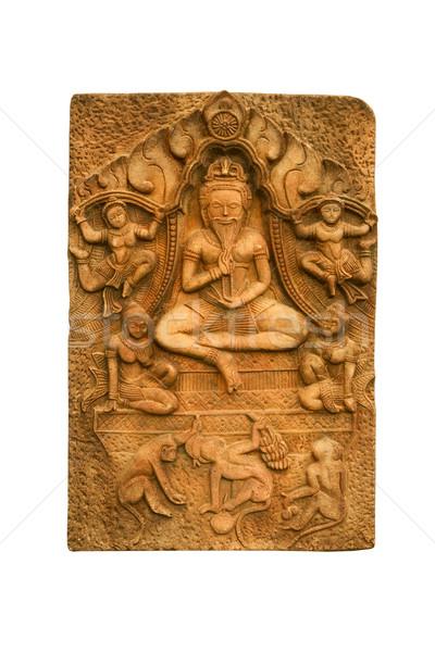 Buddha basso sollievo texture costruzione muro Foto d'archivio © stoonn