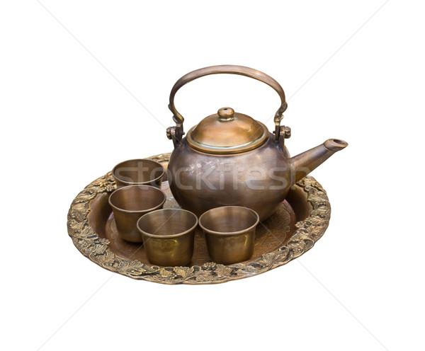 Vintage tea pot set Stock photo © stoonn
