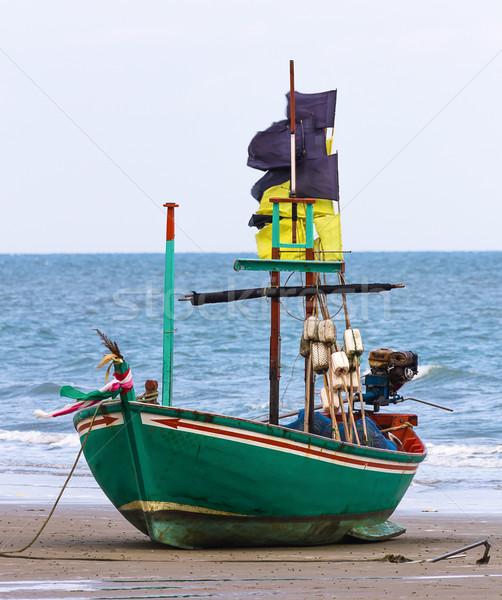 漁船 ビーチ タイ 水 海 青 ストックフォト © stoonn