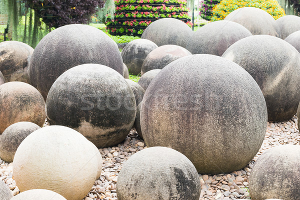Close up Stone in Japanese garden  Stock photo © stoonn