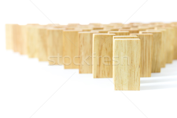 Dominó branco negócio madeira Foto stock © stoonn