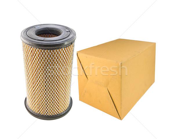 Air filtrer voiture papier boîte isolé Photo stock © stoonn