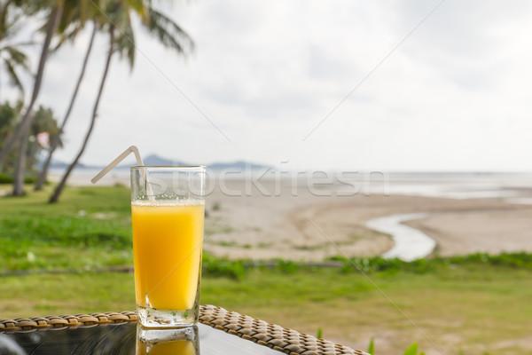 Glass of orange juice Stock photo © stoonn
