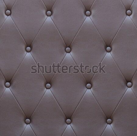 Minta barna bőr ülés kárpit fal Stock fotó © stoonn