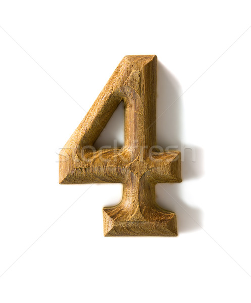 Wooden numeric 4 Stock photo © stoonn