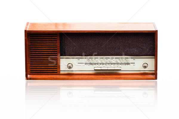 Klasszikus rádió fehér zene kommunikáció retro Stock fotó © stoonn