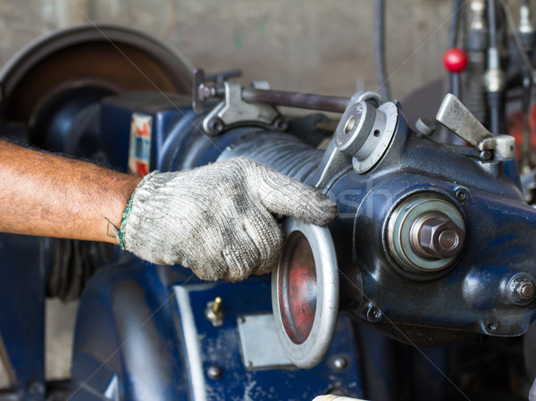 Old lathe in workshop Stock photo © stoonn