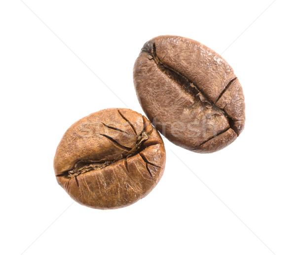 Grãos de café isolado branco comida Foto stock © stoonn
