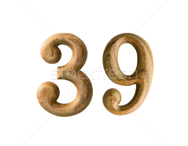Wooden numeric 39 Stock photo © stoonn