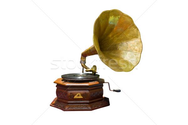 Gramofone foto retro disco isolado música Foto stock © stoonn