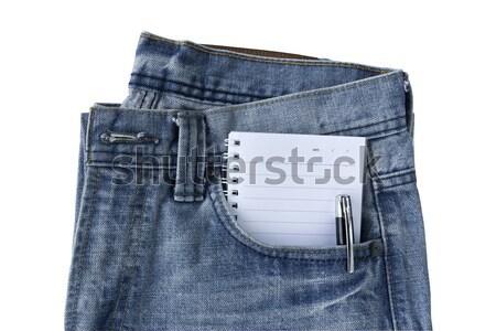 Front Blue jeans open zip Stock photo © stoonn