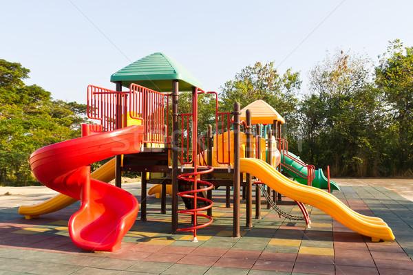 Children playground in park Stock photo © stoonn