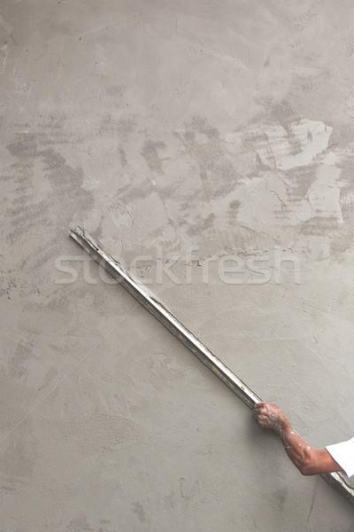 Builder worker plastering concrete Stock photo © stoonn