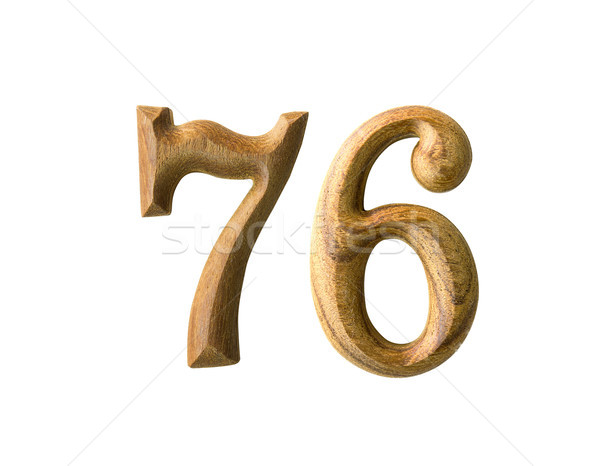 Wooden numeric 76 Stock photo © stoonn