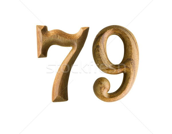 Wooden numeric 79 Stock photo © stoonn