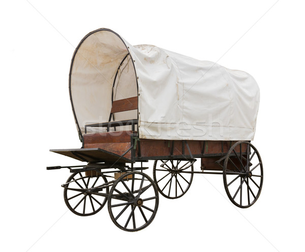 Covered wagon isolate on white Stock photo © stoonn