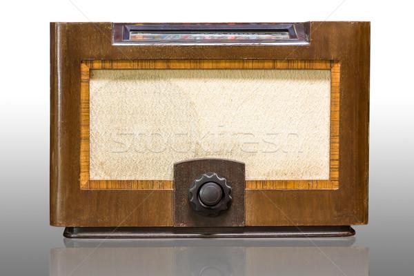 Foto stock: Antigo · rádio · isolado · sombra · retro · soar