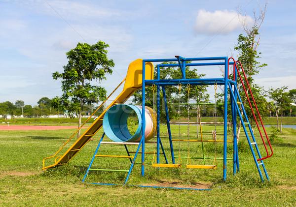 Dzieci boisko piękna miasta dziecko lata Zdjęcia stock © stoonn