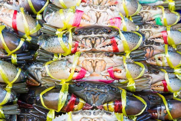 Czarny Krab błoto świeże rynku Zdjęcia stock © stoonn