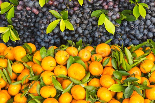 Fresh orange and grape fruit Stock photo © stoonn