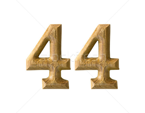 Wooden numeric 44 Stock photo © stoonn