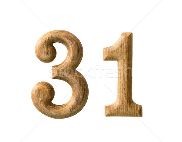 Wooden numeric 31 Stock photo © stoonn
