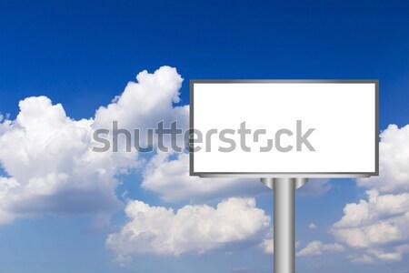 Vazio tela blue sky negócio céu quadro Foto stock © stoonn