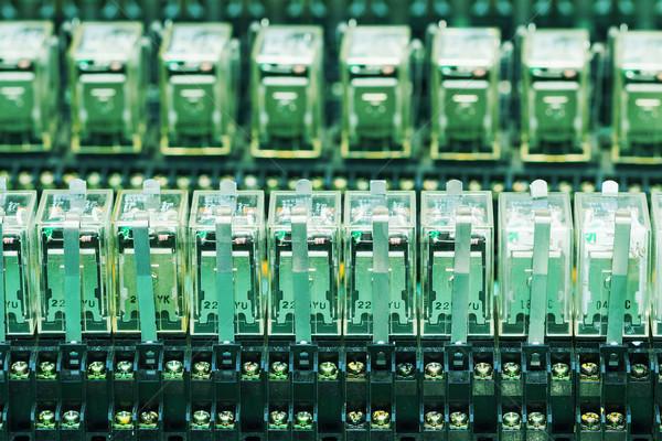 Row of Relay actuators Stock photo © stoonn
