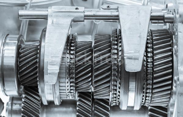 Cog wielen versnellingen mechanisch metaal Stockfoto © stoonn