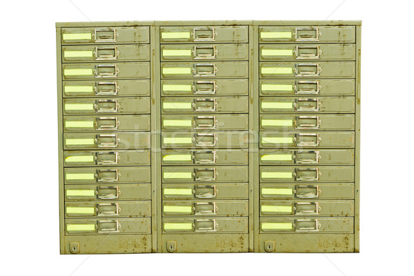 Old Steel Cabinet Documents3 Stock photo © stoonn
