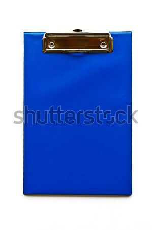 Blau Zwischenablage Briefpapier Hintergrund Bildung Karte Stock foto © stoonn