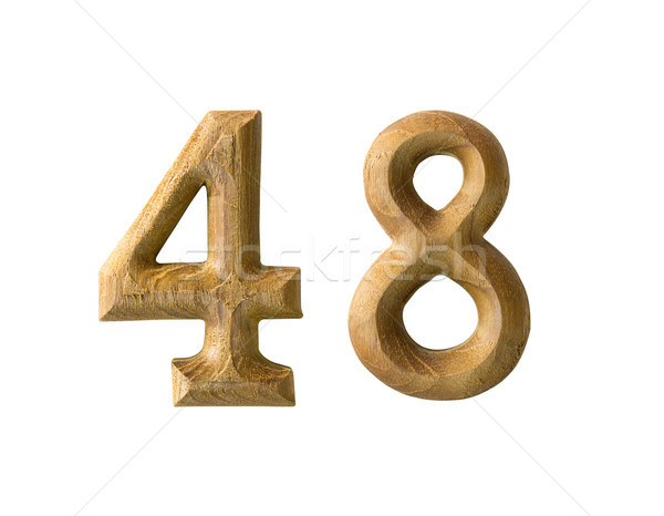 Wooden numeric 48 Stock photo © stoonn