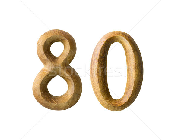 Wooden numeric 80 Stock photo © stoonn