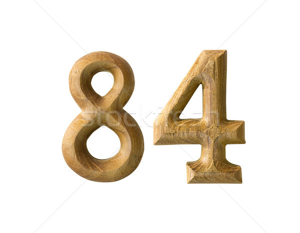 Stock photo: Wooden numeric 84
