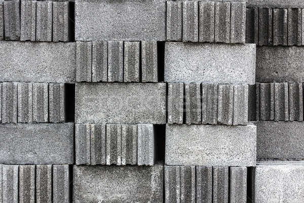 Stack of cement blocks Stock photo © stoonn